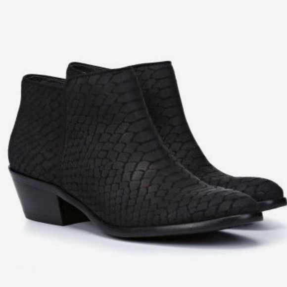 Petty Black Snake Print Ankle Boot